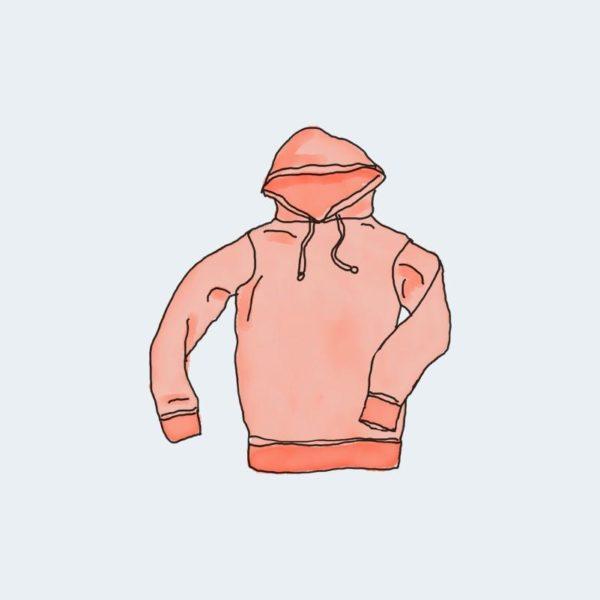Hoodie red color