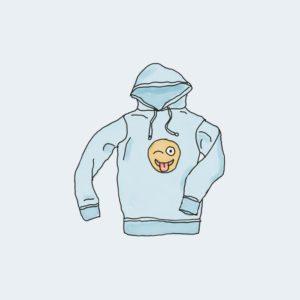 Hoodie with emoji