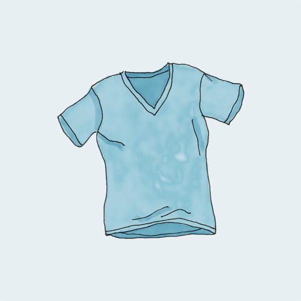 T-shirt blue color